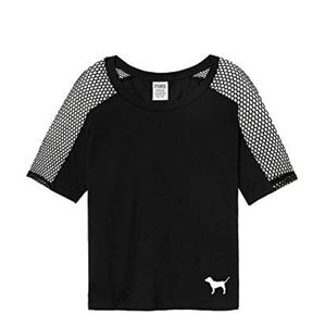 Crew Cropped Mesh Tee